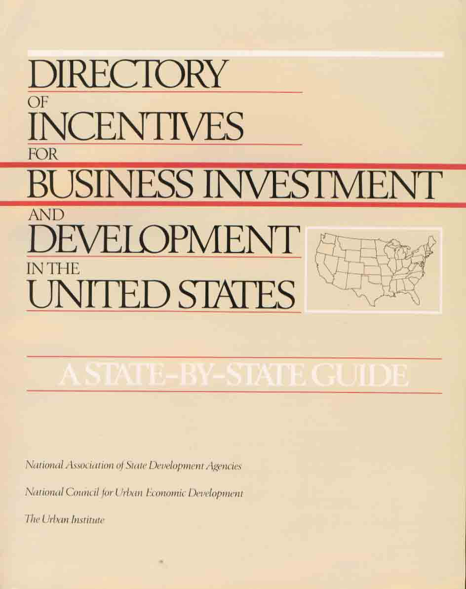 Directory of Incentives for Business Investment & Developement in the US